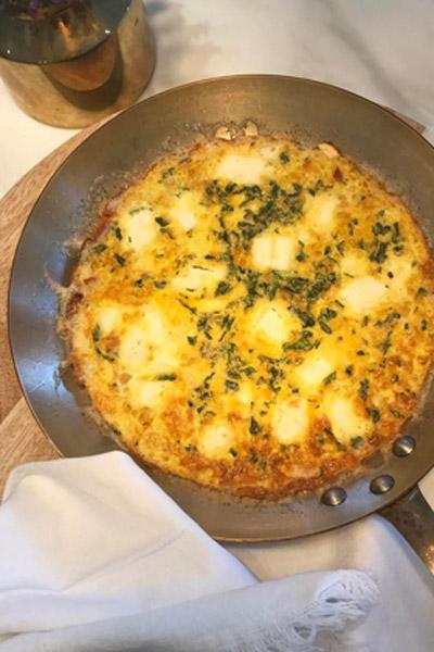 Feta Pancetta Frittata