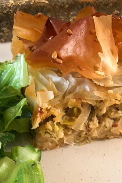 Kremmithopita- onion Pie