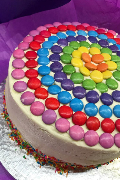 Chocolate Chip Rainbow cake